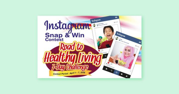 Instagram Snap & Win Contest: Road to Healthy Living (7-days Challenge)