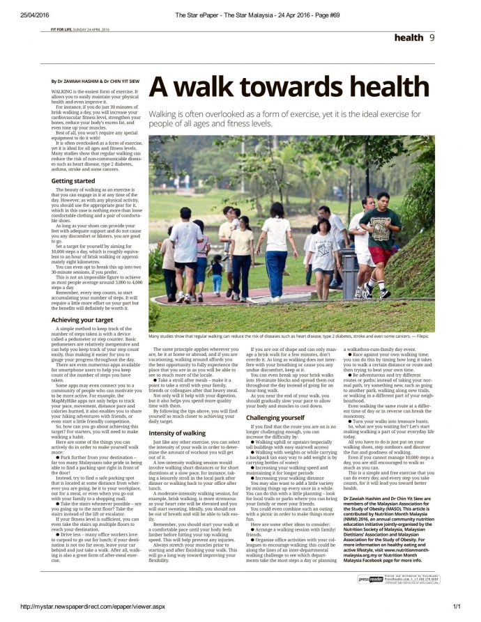 A walk towards health