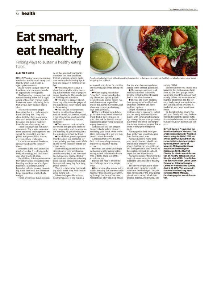 Eat smart, eat healthy