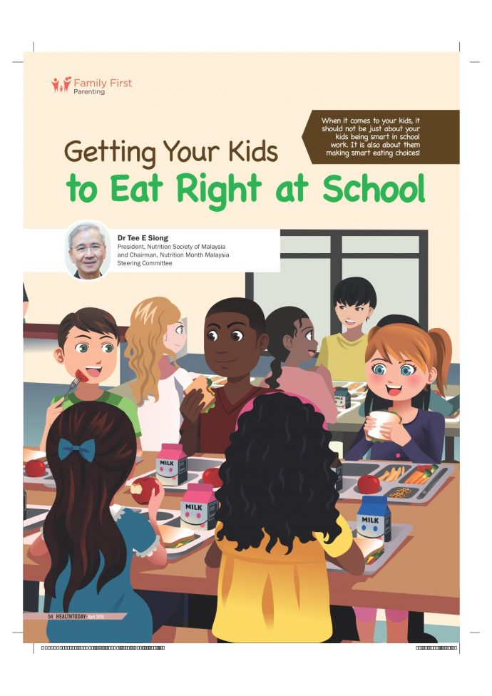 Getting your kids to eat right at school