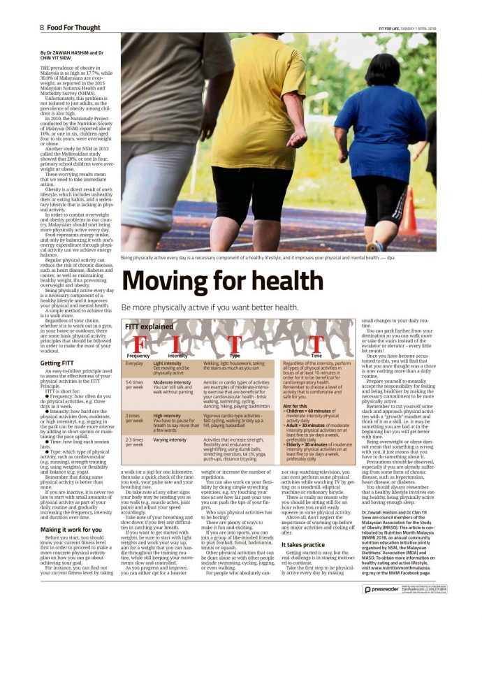 Moving for health
