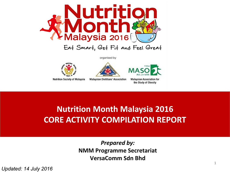 Nutrition Month Malaysia 2016 Report