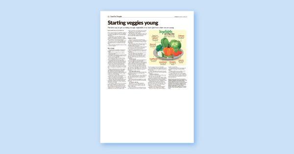 Starting veggies young