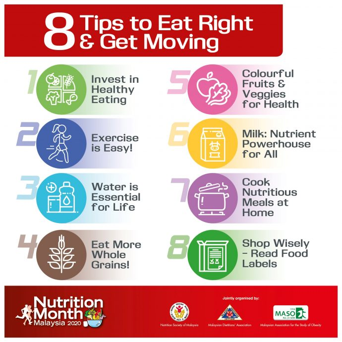 8 tips to eat right and get moving