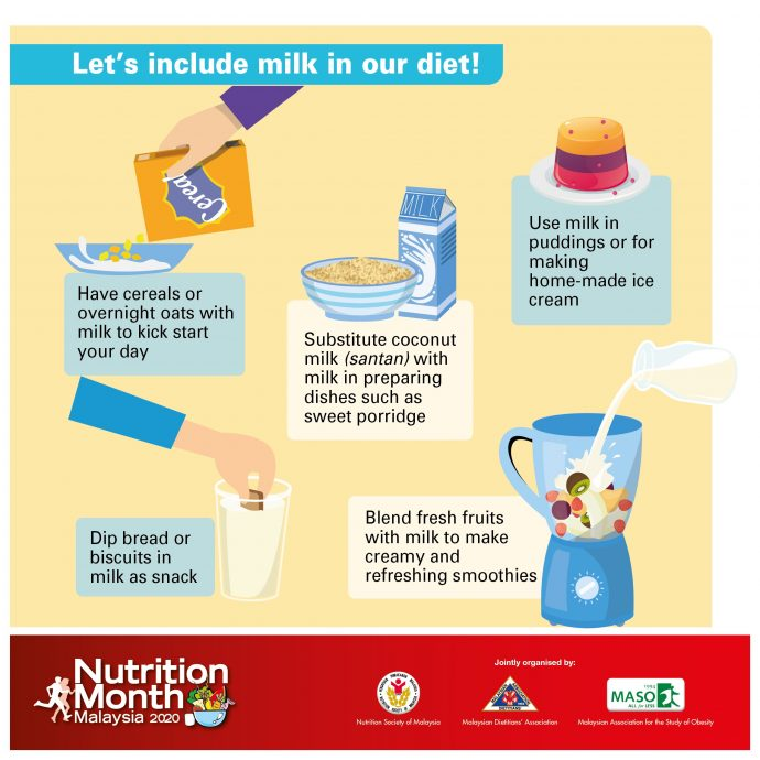 Let's include milk in our diet!