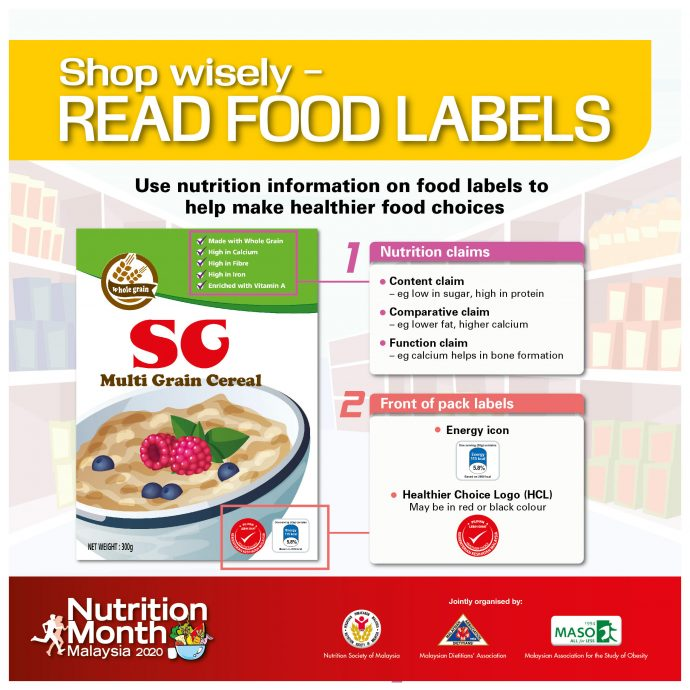Use nutrition information on food labels to help make healthier food choices.