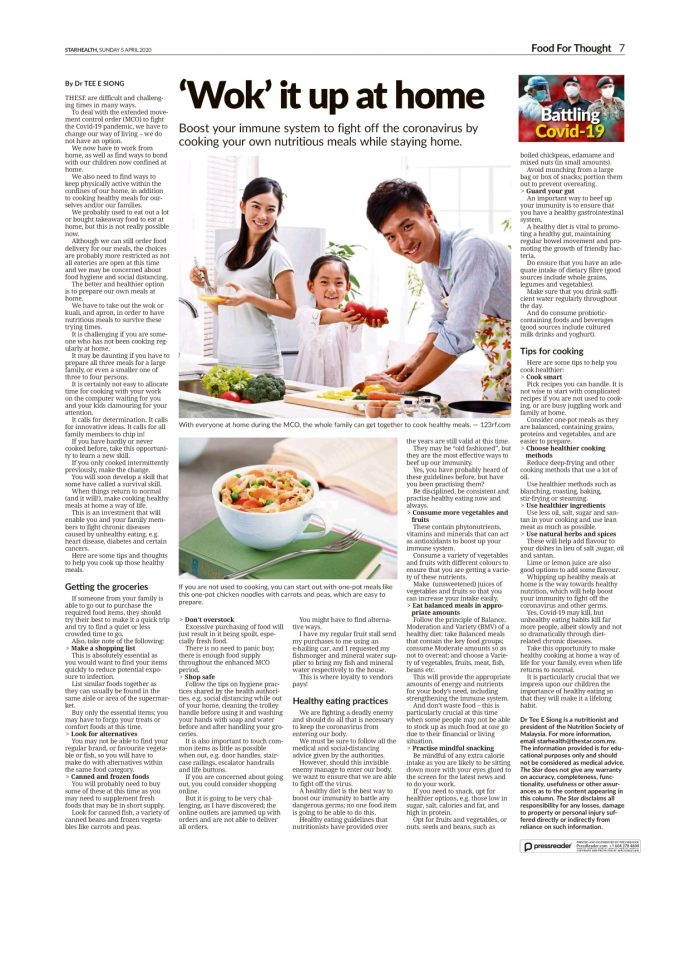 Wok it up at home. The Star - 5th April 2020.