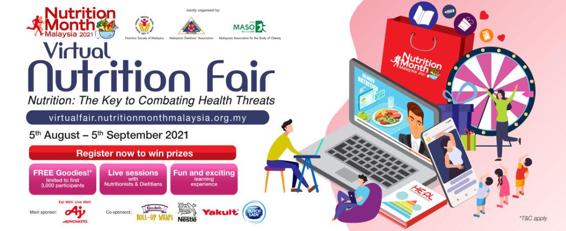 Virtual Nutrition Fair - 5 Aug - 5 Sep 2021